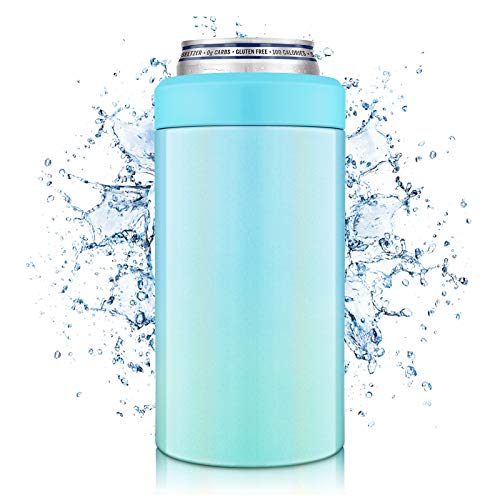 NIXIUKOL 4-IN-1 Insulated Can Cooler, Insulator for 12 Ounce Standard/Tall Skinny Slim Cans, 12 Oz...