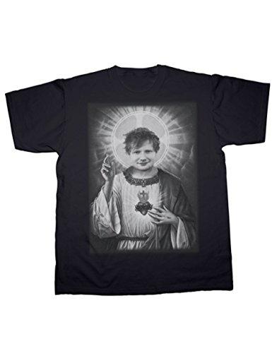 Sherbet T-Shirt mit Sheeran Saviour Aufdruck. Alle Größen erhältlich (S-5XL) Gr. Einheitsgröße, schwarz
