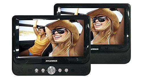 Sylvania SDVD9957 – Reproductor de DVD portátil con visualización Dual