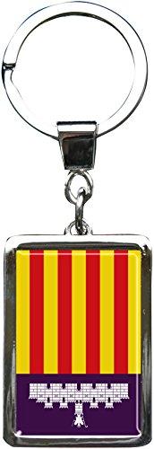 metALUm Schlüsselanhänger aus Metall/Flagge Mallorca /6614042J