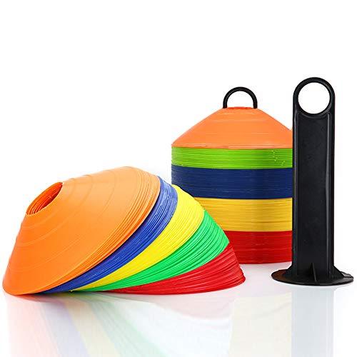 SHUIBIAN 20PCS Conos de Entrenamiento de Fútbol Plástico para Deporte de Soccer Ball ,Conos de Entrenamiento - Conos de fútbol - Conos de Entrenamiento
