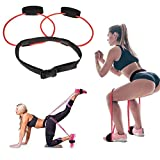 DINAPENTS Women Fitness Booty Bands Exercise Resistance Bands with Adjustable Waist Belt for Legs Butt Ankle Resistance Training, Leg Workout Equipment Muscles Trainer (20 lb)