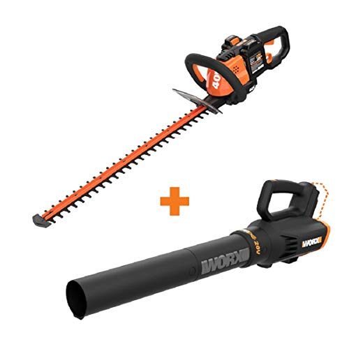 For Sale! WORX WG284 40V Power Share Cordless 24 Hedge Trimmer w/Power Share Cordless Turbine Blowe...