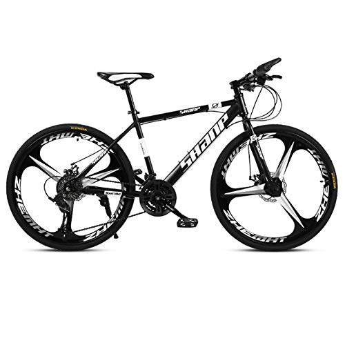 Outroad Mountain Bike for Adult Teens,26 Inch All-Terrain Mountain Bike 21 Speed 3-Spoke in Carbon Steel Bicycle 21speed Black