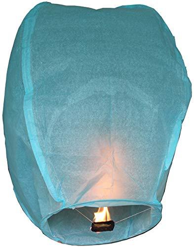 Nuluphu Sky Lanterns 10 Pack -100% Biodegradable (Blue)