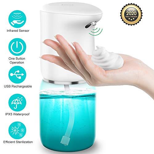 vcloo Automatisch Desinfektionsspender, Seifenspender Elektrischer Schaumseifenspender mit Sensor Infrarot Automatisch Sprühspender 400ml für Küchen und Badezimmer Waschraum/öffentlicher Ort