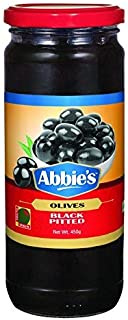 Abbie's Black Pitted Olive 450g Pack of 1, Product of Spain