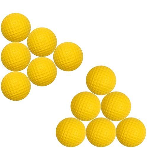 JOEE 12pcs Golfbälle aus PU-Schaumstoff,Soft Elastic Indoor Outdoor Praxis Golfbälle,weiche Bälle für Kinder und Haustiere, Spielzeug(gelb)