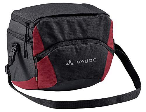 VAUDE Ontour Box L (Klickfix Ready), Tasche per Manubrio Unisex-Adulto, Nero/Carminio, Taglia Unica