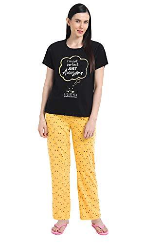 Fflirtygo Top and Pyjama Set for Women Night Wear, Lounge...