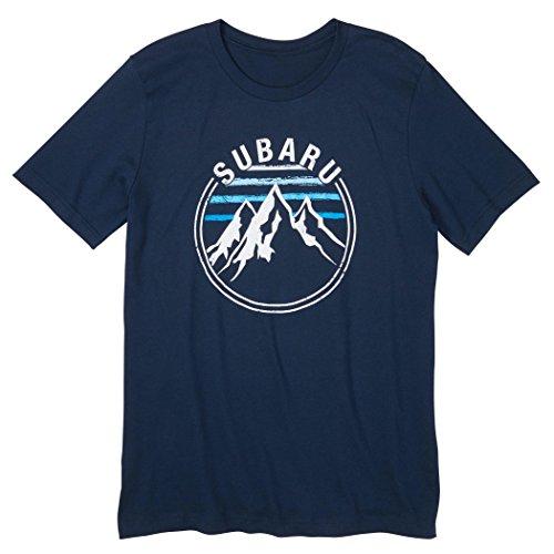 Subaru Official Mountain Tee T Shirt Impreza Sti WRX Forester Outback Legacy New (Large) Blue