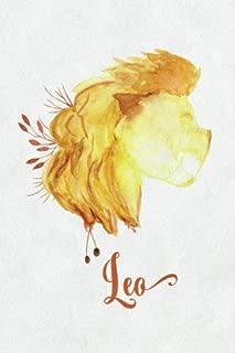 Leo Zodiac Creative Notebook Journal: (6 x 9 Small)(Dot Grid) Blank Journal Organizer Planner Sketchbook Gratitude Diary Horoscope Astrology Sign Watercolor Lion Flowers Pocket Size