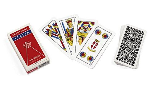 Dal Negro 10073–Trevisane Italien Spielkarten regionalen, Etui rot