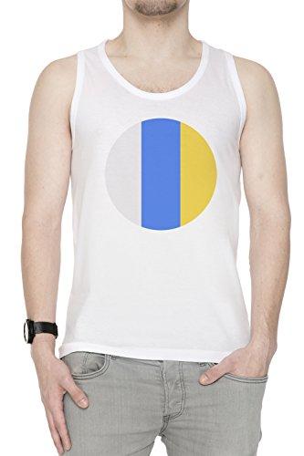 Canario Islas Nacional Bandera Hombre De Tirantes Camiseta Blanco Todos Los Tamaños Men's Tank T-Shirt White