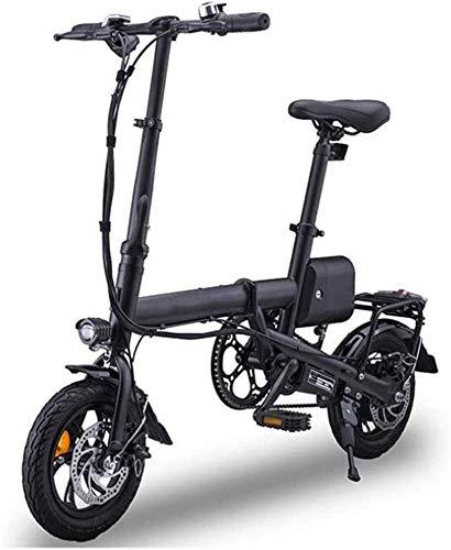 RDJM Bici electrica Bicicletas eléctricas rápidas for Adultos Adultos con 12' de absorción de choques neumáticos Velocidad máxima 25 kmh 35KM de Largo Alcance portátil plegable Bicicleta eléctrica for