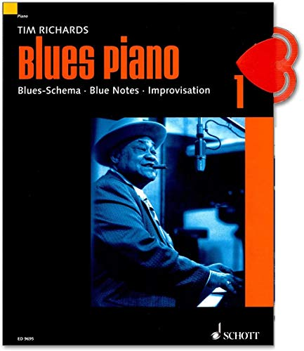 Blues Piano 1 von Tim Richards - Blues-Schema - Blue Notes - Improvisation - mit Online Audio, NK - Neuausgabe 2019 - ED9695 9783795757274