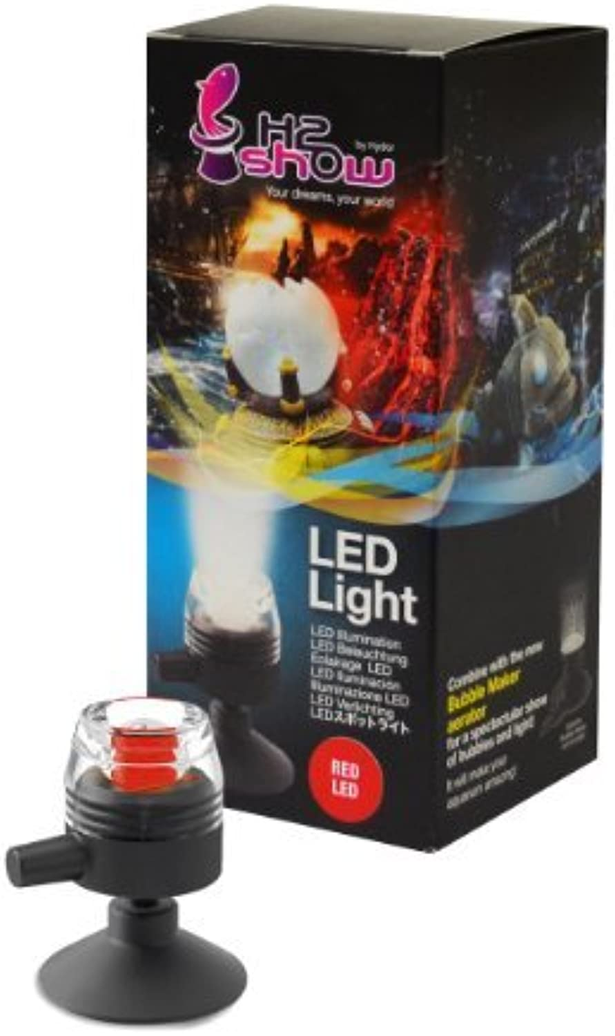 H2Show Red LED  Submersible Spotlight for Aquariums by Hydor