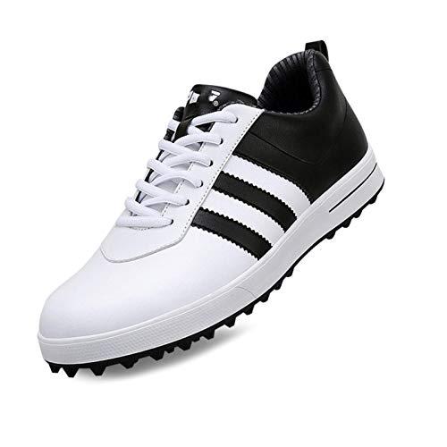 CGBF-Zapatos de Golf Impermeables y Transpirables para Hombre Zapatillas Zapatos Deportivos Casuales de Moda,Negro,39 EU