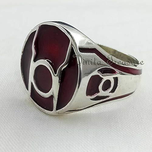 Lantern Ring, Red Lantern Men's Ring, Lantern...