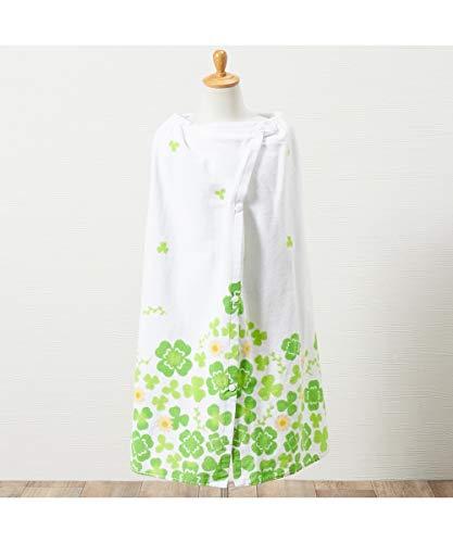 [nissen(ニッセン)] 綿100% ハッピーライフクローバー 80cm丈ラップタオル グリーン 80cm丈 マタニティ