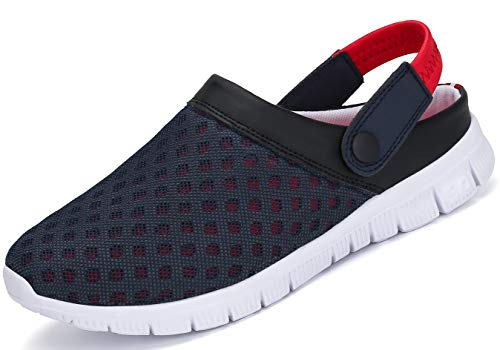SAGUARO Unisex Respirable de la Red del Acoplamiento Zapatillas de Playa Ahueca hacia Fuera Las Sandalias,Rojo 38