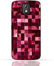 HTC Desire 526 G Plus TPU Silicone Case With Glamour Disco Squares