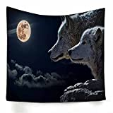 Psicodélico animal lobo gris tapiz colgante de pared hippie tapiz decoración de la pared del hogar tela de fondo tela colgante A5 180x200cm