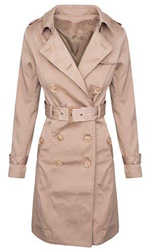 Rock Creek Selection Trenchcoat Damen Designer Mantel Jacke D-312 [V3432 Beige M]