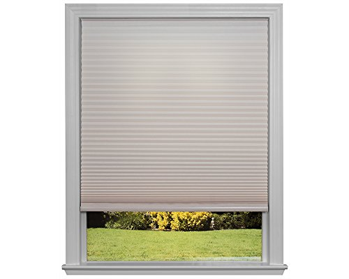 Easy Lift Trim-at-Home Cordless Cellular Light Filtering Fabric Shade Natural, 36 in x 64 in, (Fits windows 19'- 36')
