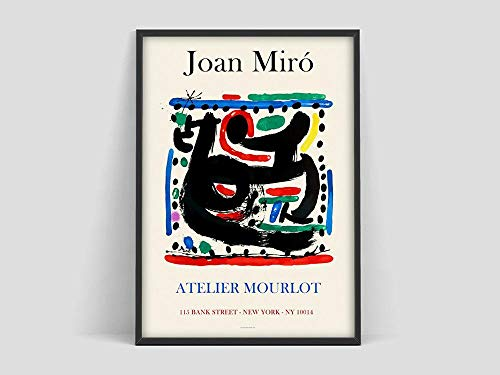 Póster de Joan Miro, impresión de Mourlot Paris, póster de Joan Miro, impresión de Joan Miro, lienzo decorativo sin marco familiar M 40x60cm