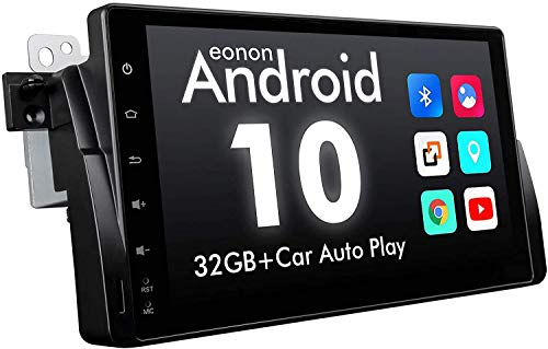 2021 New Android Car Stereo Android 10 Car Stereo, Eonon Car Radio Applicable to BMW 3 Series Android Head Unit Support Carplay/Android Auto/WiFi/Fast Boot/Backup Camera-9 Inch-GA9450B