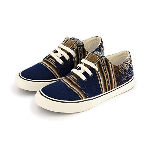 MiPacha Sneaker - Clasico Bajo Gato Marino Natural - Handgefertigte Sommer Canvas Schuhe - Marineblau, Marineblau, 38 EU