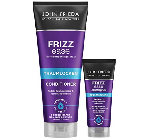 John Frieda Frizz Ease Traumlocken Conditioner, Vorteils-Set inklusive Shampoo, 250 ml Conditioner + 50 ml Shampoo1