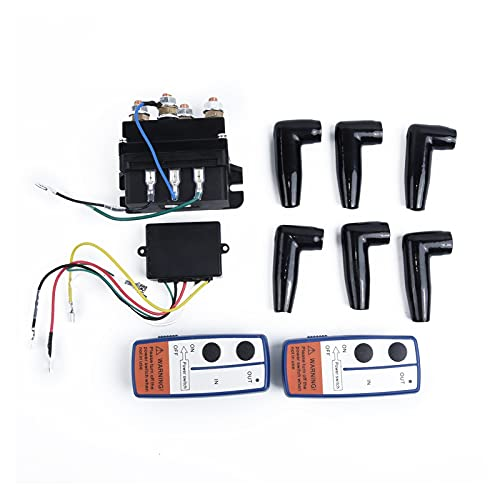 LIULIANG MeiKeL 1 2V 500A Contactor Winch Control Solenoide Relay Twin Wireless Remote Off Roaders