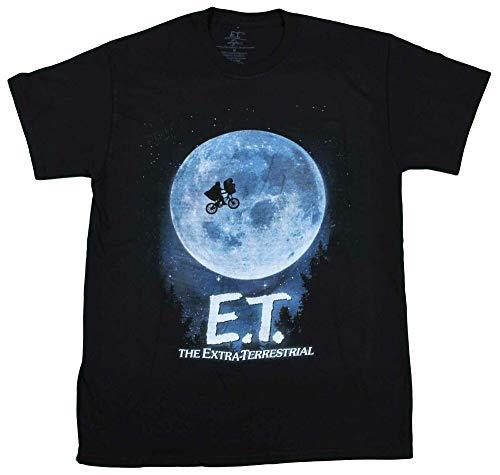 E.T. Extra Terrestrial Movie T-Shirt Vintage Universal Movie tee New Black