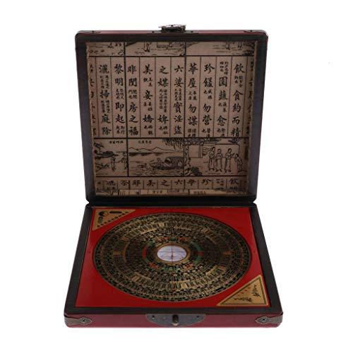 IPOTCH Professionelle Feng Shui LUO PAN Kompass deutsche Beschriftung mit Box