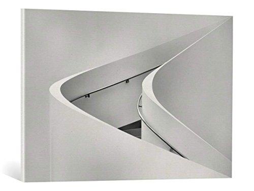 Kunst für Alle Cuadro en Lienzo: Jeroen Van de Wiel The Curved Stairs - Impresión artística, Lienzo en Bastidor, 95x65 cm