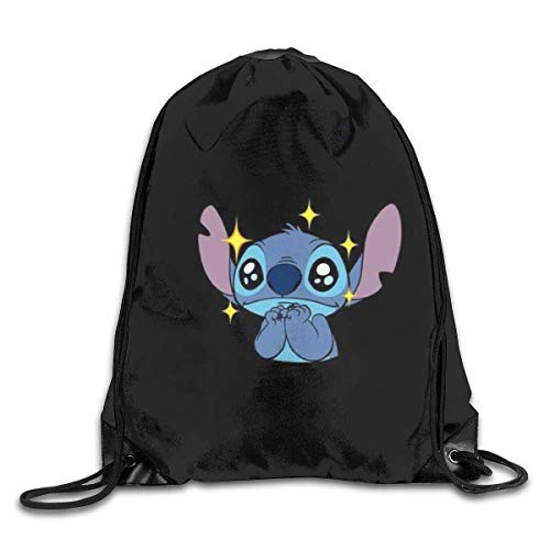 Etryrt Shining Stitch Drawstring Bag Print Shoulder Bags Sackpack Sport Gym Backpack Storage Bag