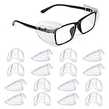 8 Pairs Eye Glasses Side Shields Flexible Slip on Side Shields for Safety Glasses Fits Small to Large Eyeglasses Universal