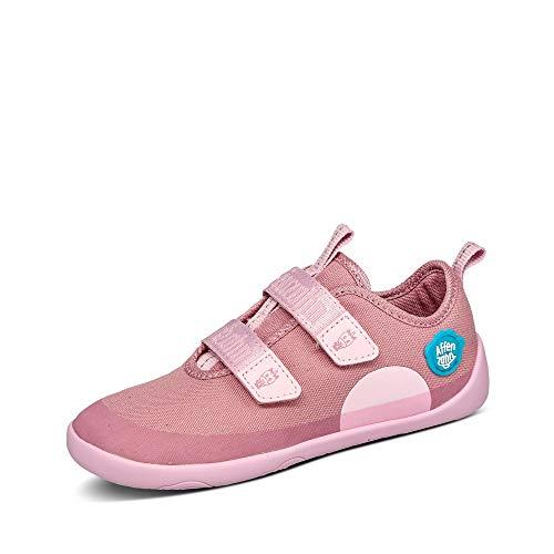 Affenzahn Barfußschuh Baumwolle - Kinderschuh für Jungen und Mädchen - Einhorn - Pink - 26