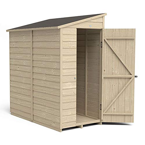 Forest Garden Overlap Pressure Treated 6 x 3 Pent Shed - No Window