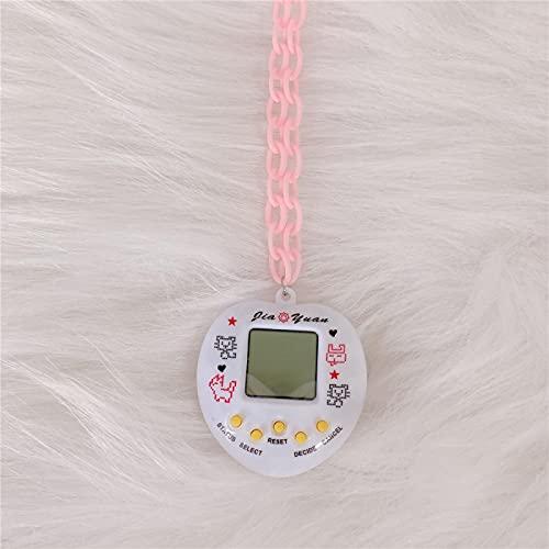 Collar Joyas Collar con Colgante De Consola De Juegos para Mascotas Electrónico para Mujeres Y Hombres, Gargantilla De Juguete Divertido Vintage Color