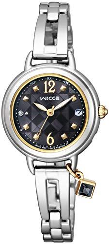 [シチズン] 腕時計 ウィッカ ソーラーテック電波時計 ブレスライン ハッピーダイアリー KL0-910-51 レディース シルバー
