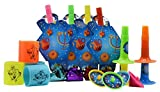 Hanukkah Party Mega Set - 16 Pack - Includes 4 Party Blowouts, 4 Slinkys, 4 Trumpets, 4 Dreidels - Chanukah Party Decorations and Supplies - Izzy 'n' Dizzy