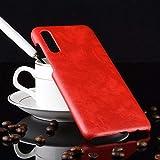 LISUHONG Clemente AYSMG a Prueba de Golpes Litchi Texture PC + PU Funda for Galaxy A50 (Negro) (Color : Red)