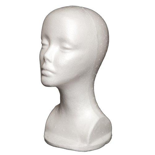 "A1Pacific 13"" STYROFOAM FOAM MANNEQUIN head wig display hat glasses"