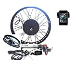 theebikemotor 3000W Hub Motor Bicicleta eléctrica Kit de conversión + LCD or TFT Display + Freno de Disco Rueda Trasera (26' * 4.0 Fat Wheel + 7 Speed Gear, 72V3000W + TFT Display)