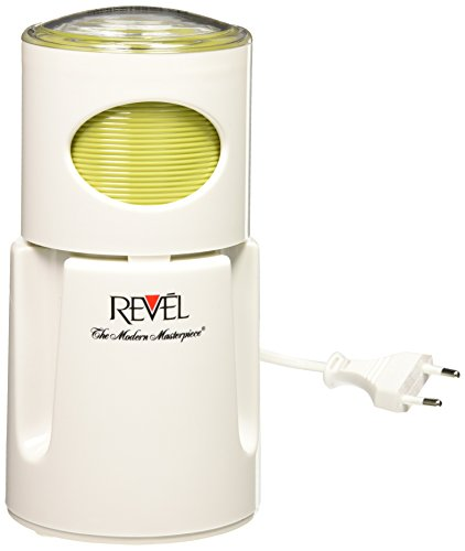 Revel White Wet and Dry Coffee Spice Grinder, 220 Volts (Not for USA-European Cord), 4.5 x 4.5 x 8.5 inches