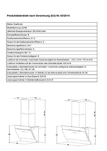 recirculación Campana extractora libre de cabeza Campana Pared Luna 60 cm Acero Inoxidable Negro Cristal Campana: Amazon.es: Grandes electrodomésticos