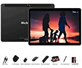Tablette Tactile 10 Pouces - MEBERRY Android 9 Pie Tablette avec 4 Go RAM | 64 Go ROM - Certification Google GSM - 4G Dual SIM - 8000mAh | WI-FI | Bluetooth | GPS | Type-C(5.0+8.0 MP Caméra) - Noir